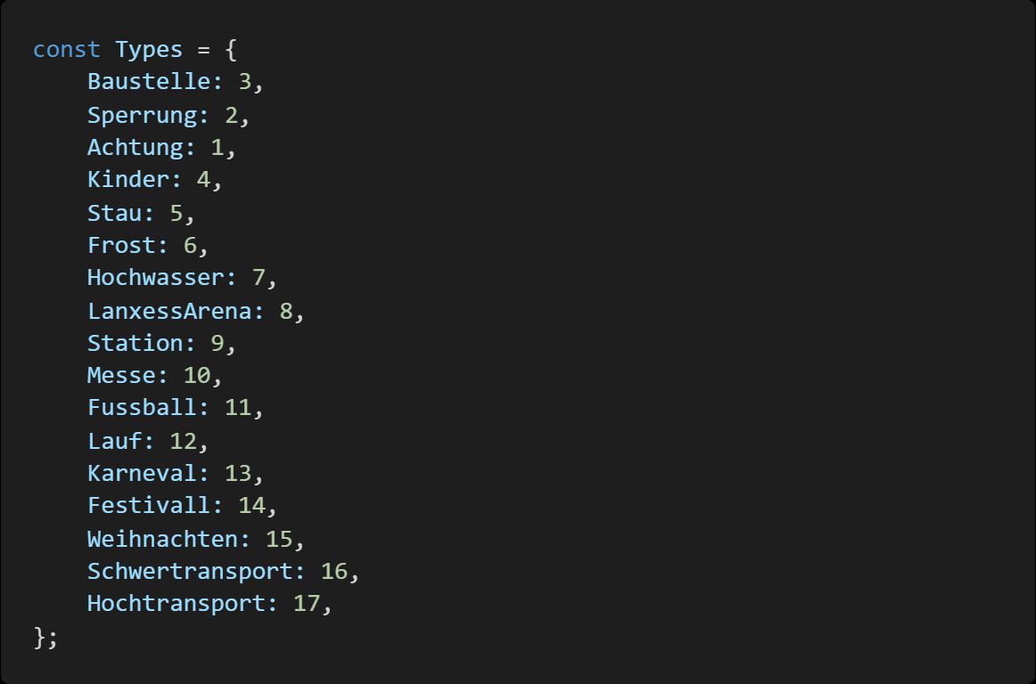 Event API Typen
